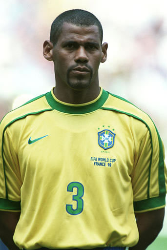 Aldair Santos do Nascimento Brasilien M-1212 Fußball Original Autogramm Foto